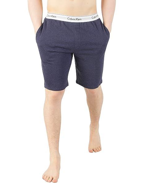 Calvin Klein Hombre Logotipo de Pretina Pantalones de Pijama, Azul: Amazon.es: Ropa y accesorios