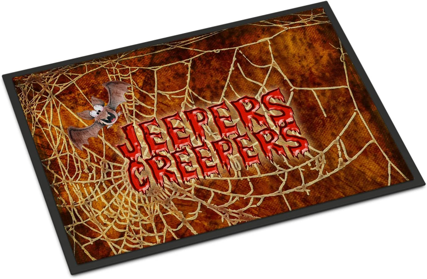 Caroline s Treasures SB3018JMAT Jeepers Creepers with Bat and Spider Web Halloween 24×36 Doormat, 24H X 36W, Multicolor