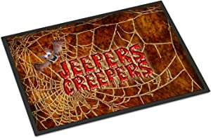 Caroline's Treasures SB3018JMAT Jeepers Creepers with Bat and Spider Web Halloween 24x36 Doormat, 24H X 36W, Multicolor