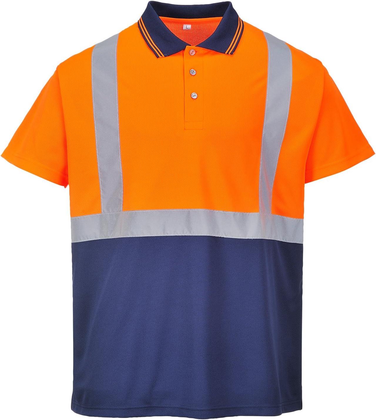 Portwest S479 Zwei Ton Hi Vis Polohemd Arbeitskleidung