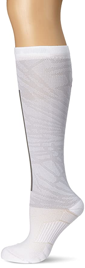 Nike Womens Elite High Intens - Calcetines para Mujer, Color Blanco/Gris, Talla