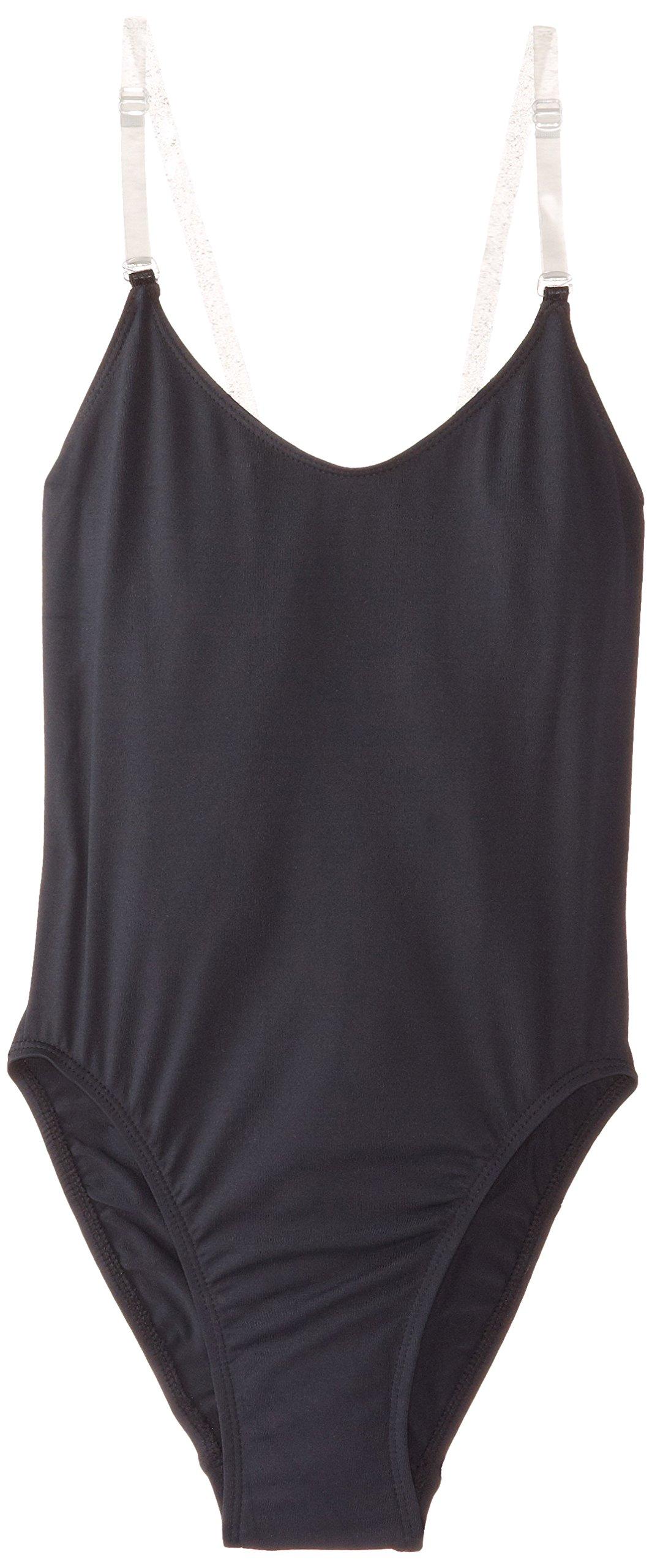 Capezio Women's Camisole Leotard with Clear Transition Straps, Black, X-Large by Capezio