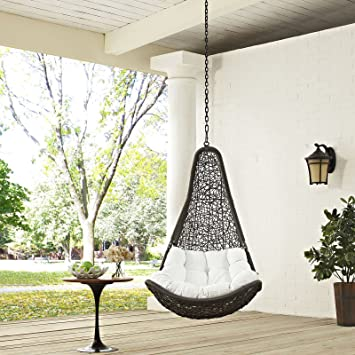 Good Modway Abate Outdoor Patio Swing Chair Without Stand, Gray White