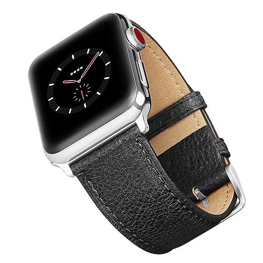9 opinioni per Benuo Genuine Pelle Cinturino per Apple Watch Series 3-42mm / Apple Watch Series