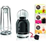 NESCAFÉ Dolce Gusto Mini Me Coffee Machine Starter Kit by De'Longhi, White/Black