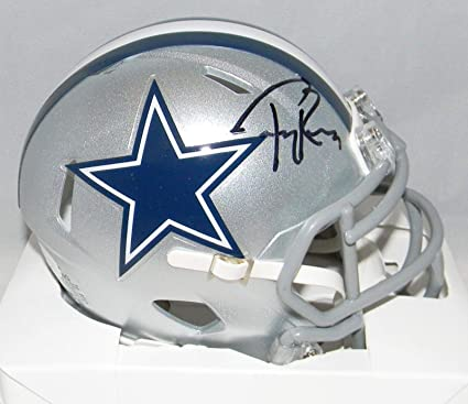 fc96d66c4bb Image Unavailable. Image not available for. Color: Autographed Tony Romo  Mini Helmet ...