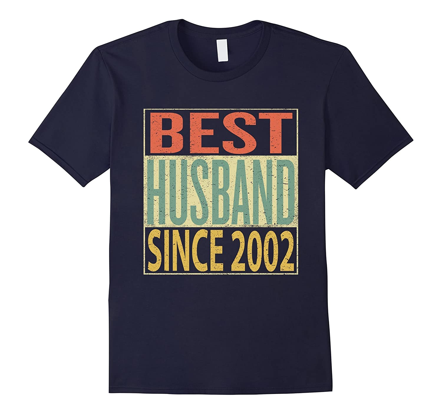 Mens Best Husband Since 2002 Shirt 15th Wedding Anniversary Gift-FL