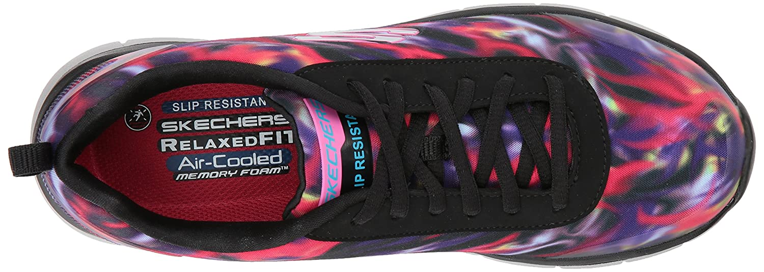 Skechers Women's Comfort Flex HC Pro SR Health Care Service Shoe B071J8WR44 8.5 B(M) US|Black/Multi