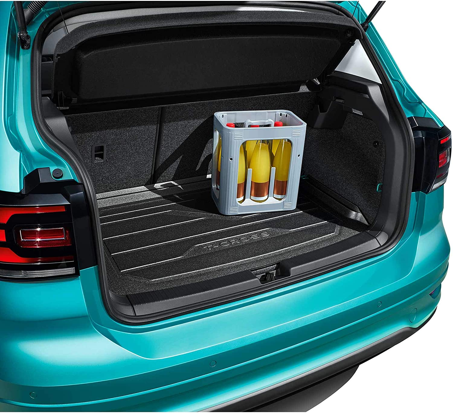 Top Position Volkswagen 2GM061161 Boot Liner with T-Cross Lettering Only for Variable Loading Floor