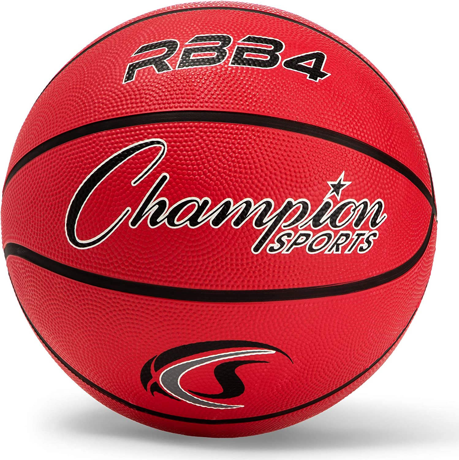 Champion Sports Rubber Intermediate Basketball, Heavy Duty - Pro-Style Basketballs, Various Colors and Sizes - Premium Basketball Equipment, Indoor Outdoor - Sports Education Supplies (Size 6, Red) : Womens Sized Basketballs : Sports & Outdoors