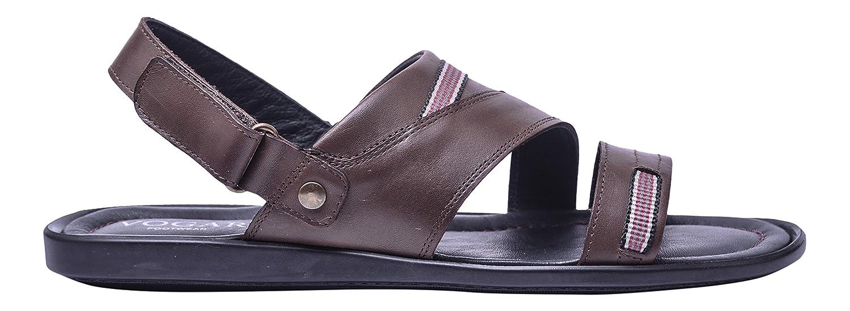 Vogar Hombre Sandalias Calzado Verano Zapatos Playa Cuero VG1155 EU 44 / 29.8 cm Marrón