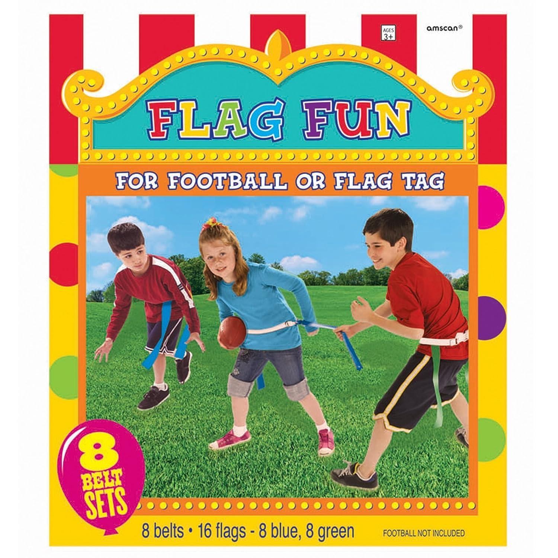 Blue//Green 24 Piece 24 Amscan Carnival Fair Fun Flag Football Game