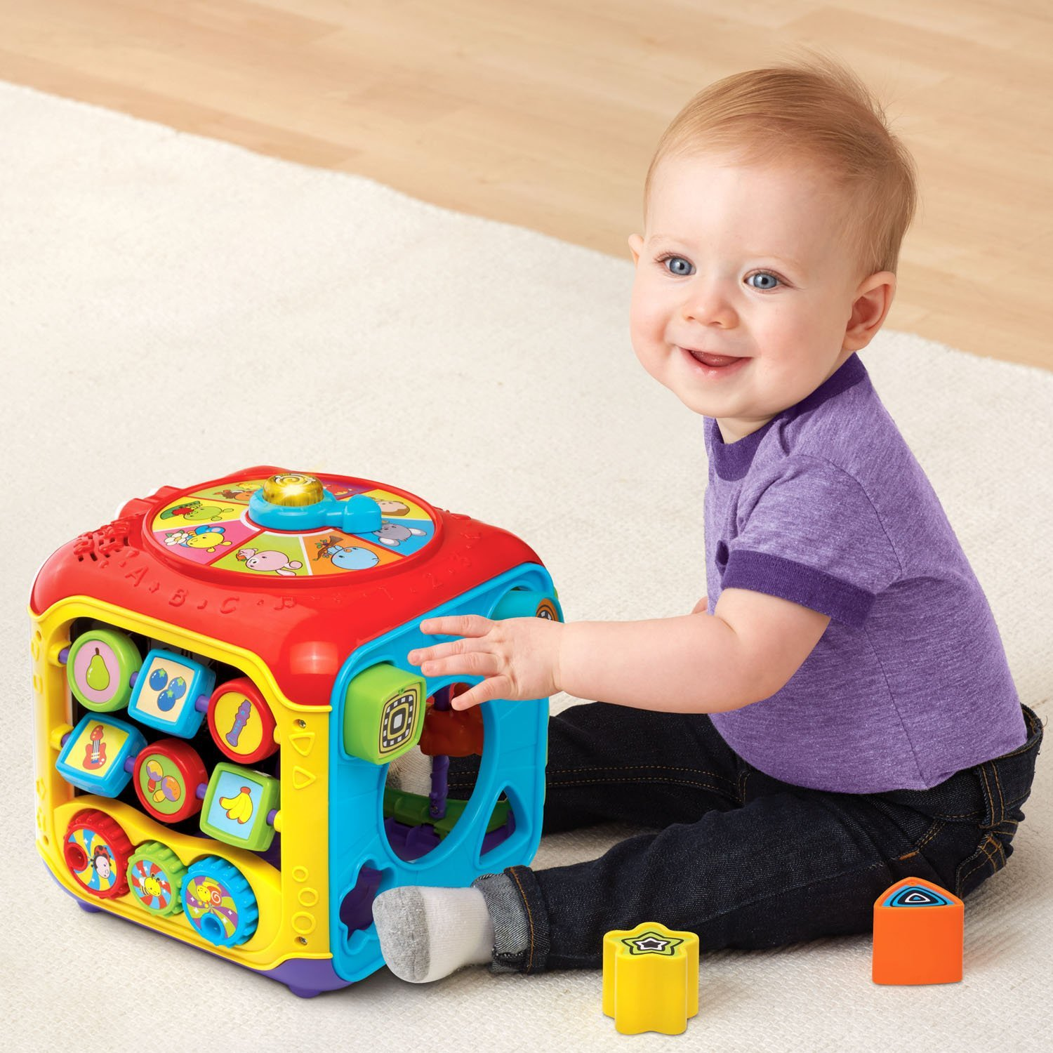 VTech Sort and Discover Activity Cube, Red by VTech (Image #5)