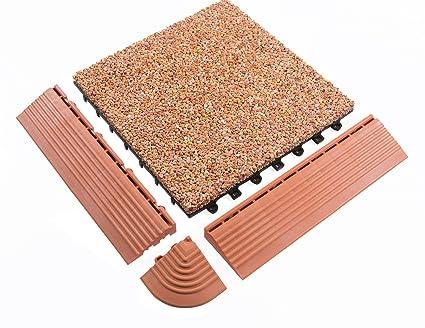 Bodenmax ciottoli click piastrelle per pavimenti set cm