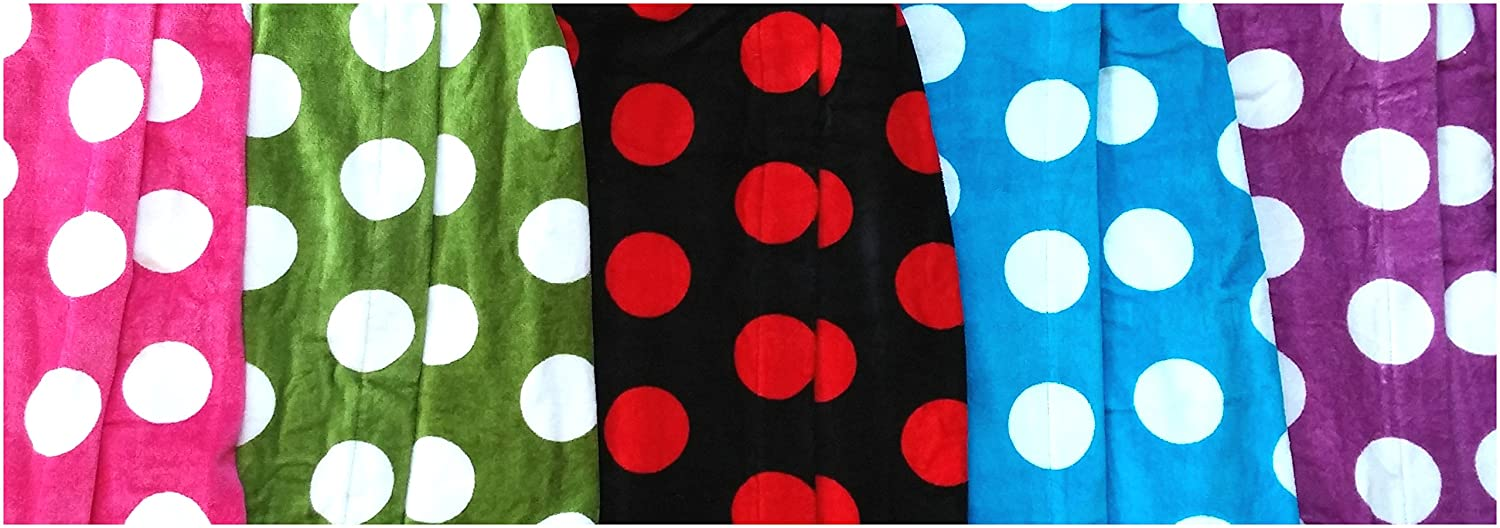 Polka Dot Terry Cloth Cotton Hooded Robes Bathrobes for Girls