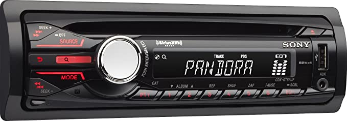 Sony CDXGT57UP Digital Media CD Car Stereo Receiver with Pandora Control on