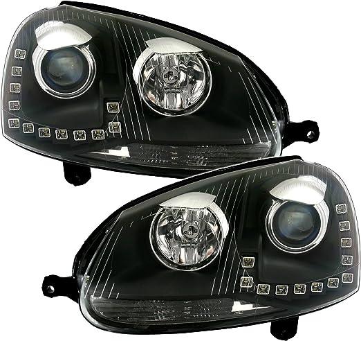 Eagle Eyes Scheinwerfer Mit Led Tagfahrlicht In Klarglas Schwarz Auto