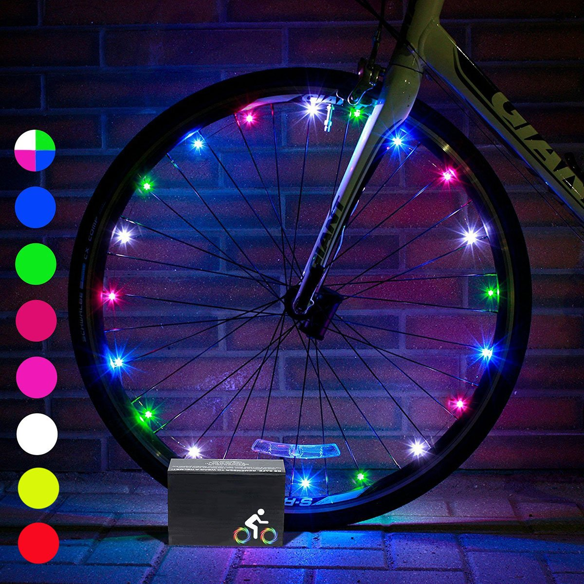 DIMY Bike Wheel Lights, LED Bike Wheel Light for Boys Toys for 5-16 Year Old Boys 5-14 Year Old Boy Gifts for Teen Girl Outdoor Toys Multicolor TTB07 by DIMY (Image #2)