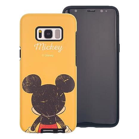 Funda Galaxy S8 [Protección híbrida contra caídas] Disney Mickey Mouse Linda Doble Capa Hybrid Carcasas [TPU + PC] Parachoques Cubierta para [ Samsung ...