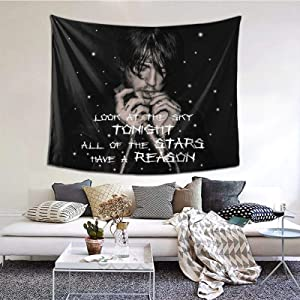 Lil Peep Tapestry, Rapper Tapestry Wall Tapestrys Boutique Art Pop Art Home Decorations Hanging Tapestries Wall Blanket Wall Art for Living Room Bedroom Dorm Decor 60x51in