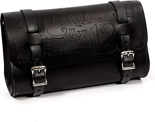 Lucky 13 MFG Co Genuine Leather Tool Pouch Black