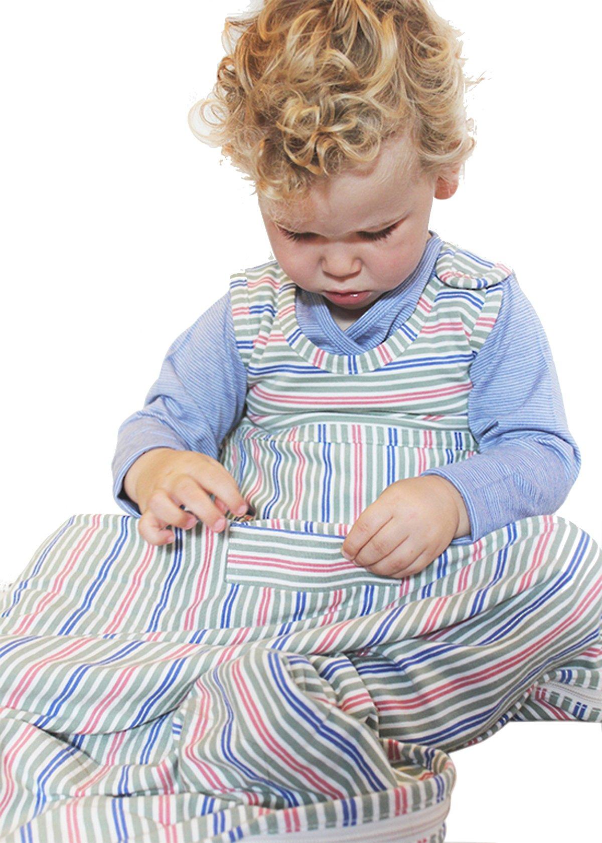 Merino Kids Organic Cotton Baby Sleep Bag For Babies 0-2 Years, Mulberry