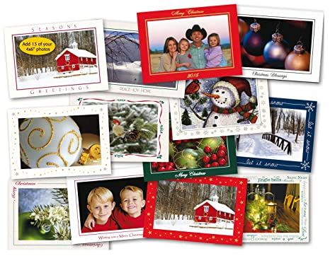 photographers edge photo insert card sample pack 13 christmas holiday cards for - 4x6 Photo Insert Christmas Cards