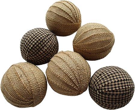 Rag bolas negro y Tan yute de pelotas de trapo con cuenco de ...