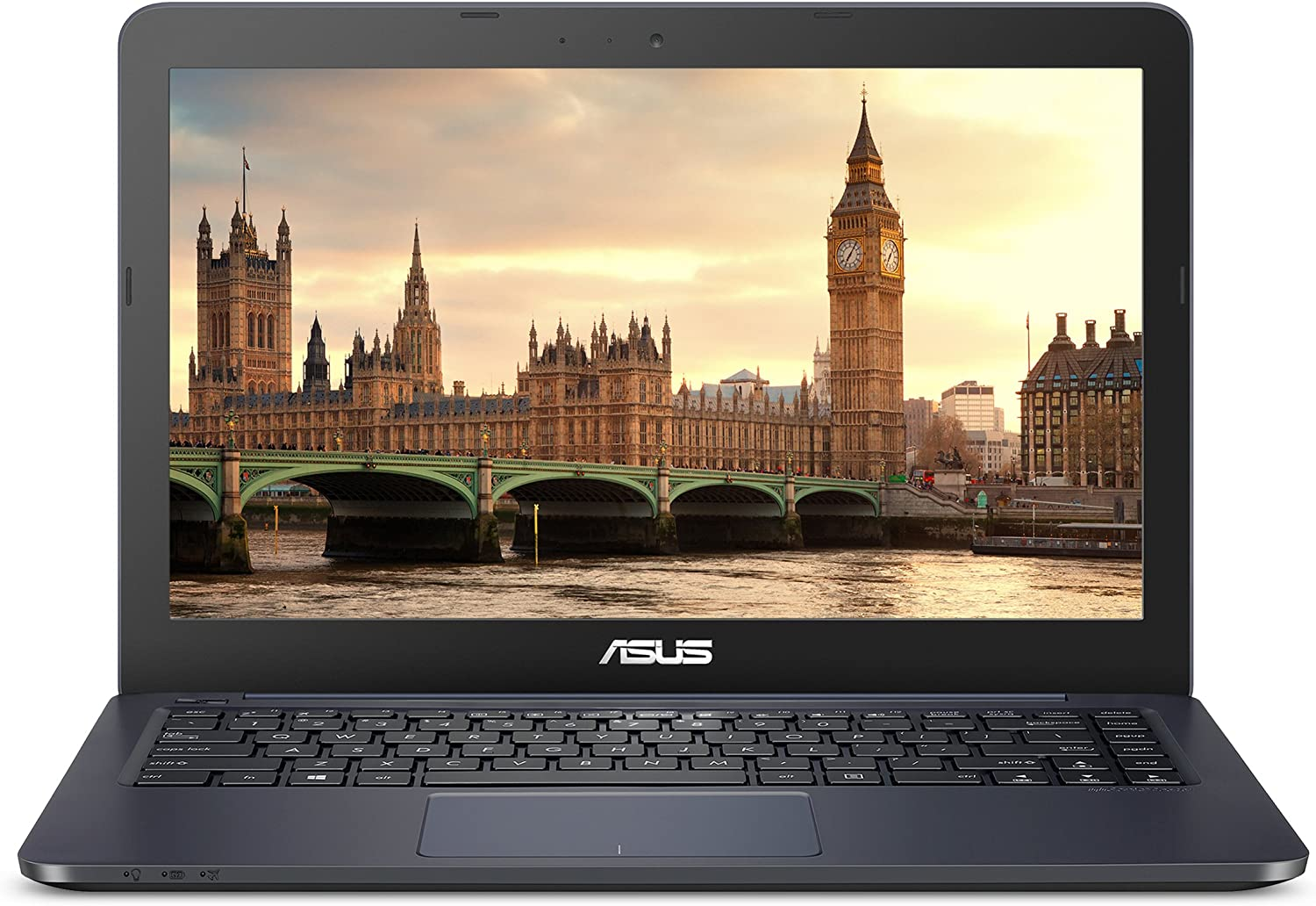 "ASUS L402YA Thin & Light Laptop, 14"" FHD; AMD E2-7015 Dual Core Processor, AMD Radeon R2 Graphics, 4GB RAM, 64GB eMMC Storage, Windows 10 S with 1yr Office 365 Included, Dark Blue, L402YA-ES22-DB"