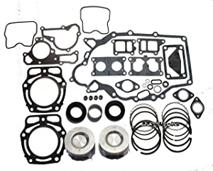 Compatible with John Deere FD620 & FD661 Engine/Kawasaki Mule 2500, 2510, 2520, 3000, 3010, 3020, 4000, 4010 (KAF620 Engine) Rebuild Kit with 2 Standard Pistons and Rings