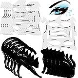 10 Sets 2 in 1 Cat Eyeliner Molds Smoky Eyeliner Stencil Pads Eyeshadow Applicators Eyeliner Template Plate Matte PVC Materia