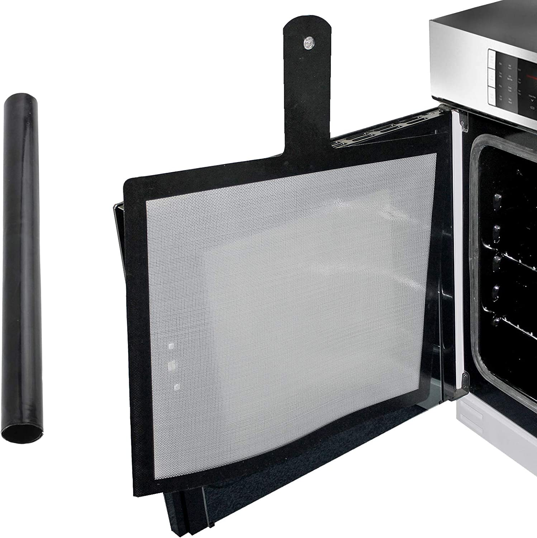 Spares2go - Protector universal para puerta de horno (480 x 400 mm) + forro de teflón para horno: Amazon.es: Grandes electrodomésticos