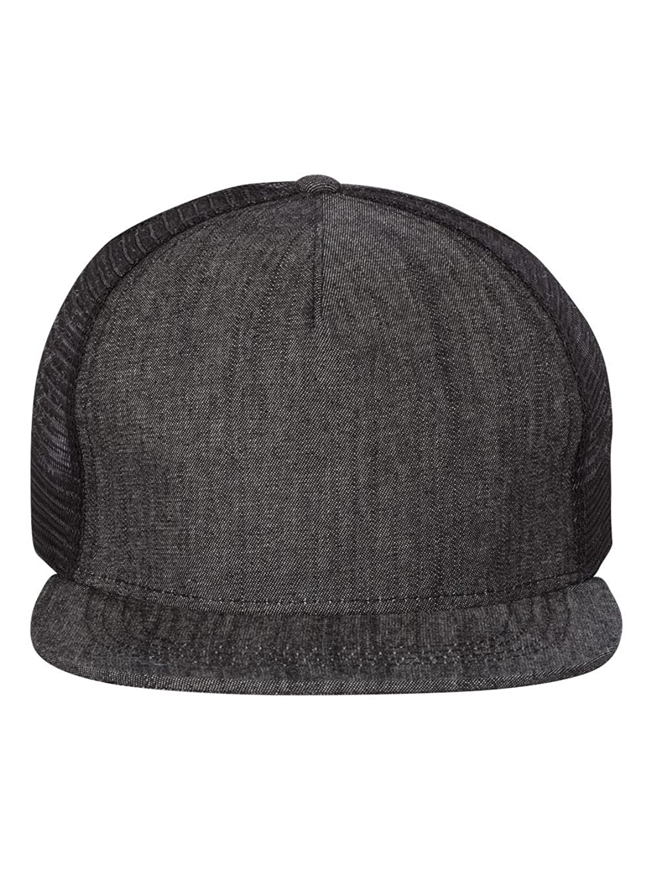 Mega Cap HAT メンズ B071NB7W2P  Black Denim/ Black L