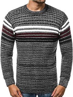 b50ed8758d6844 OZONEE Herren Pullover Strickjacke Stricken Hoodie Sweatshirt Strickpullover  Camouflage Pulli Sweater Madmext 2028