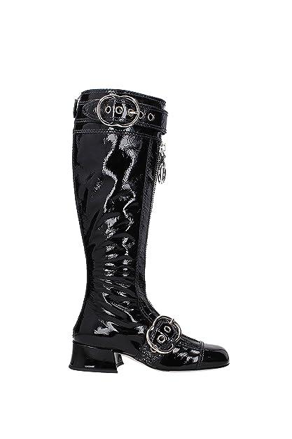 69d2206f788 Miu Miu Boots Women - Patent Leather (5W316B) UK  Amazon.co.uk ...