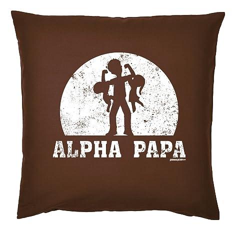 Art & Detail Shirt Cojín: Papa Dad Día del Padre Alpha Papa ...