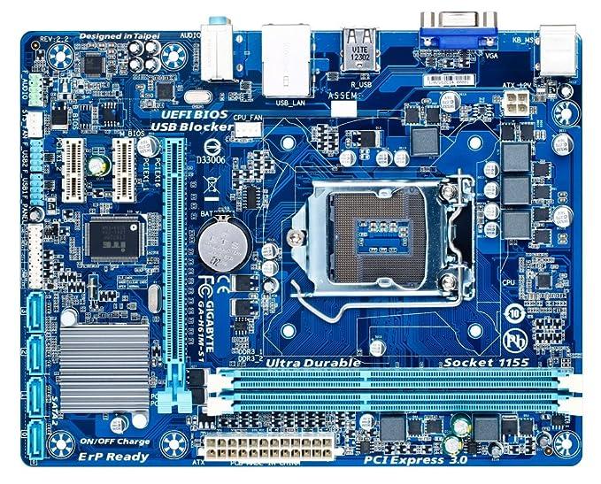Gigabyte GA-H61M-S1 - Placa base (2 DDR3 2-CH/HD): Amazon.es ...