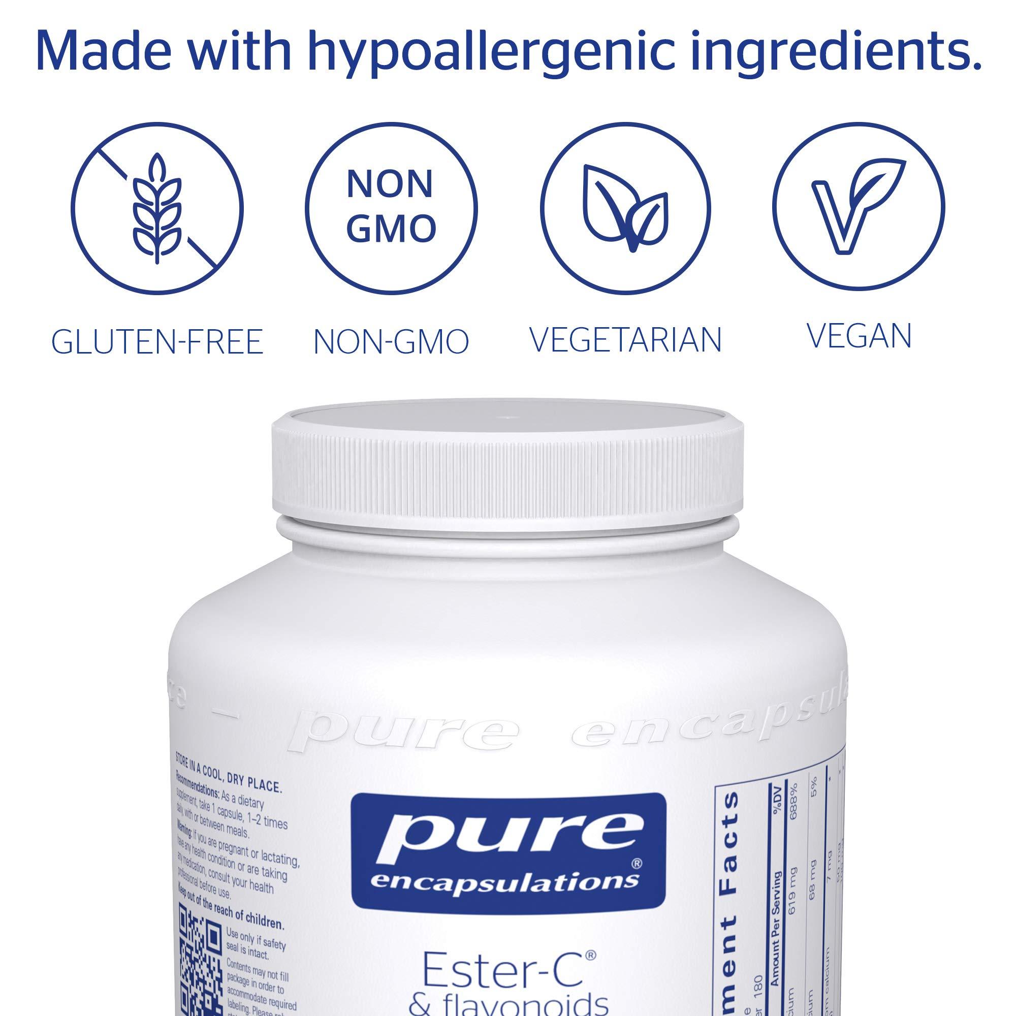 Pure Encapsulations - Ester-C & Flavonoids - Hypoallergenic Vitamin C Supplement Enhanced with Bioflavonoids - 180 Capsules by Pure Encapsulations (Image #4)