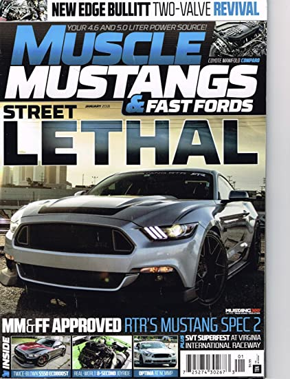 Amazon.com: Muscle Mustanges & fast Fords 2017 /18 Magazine ...