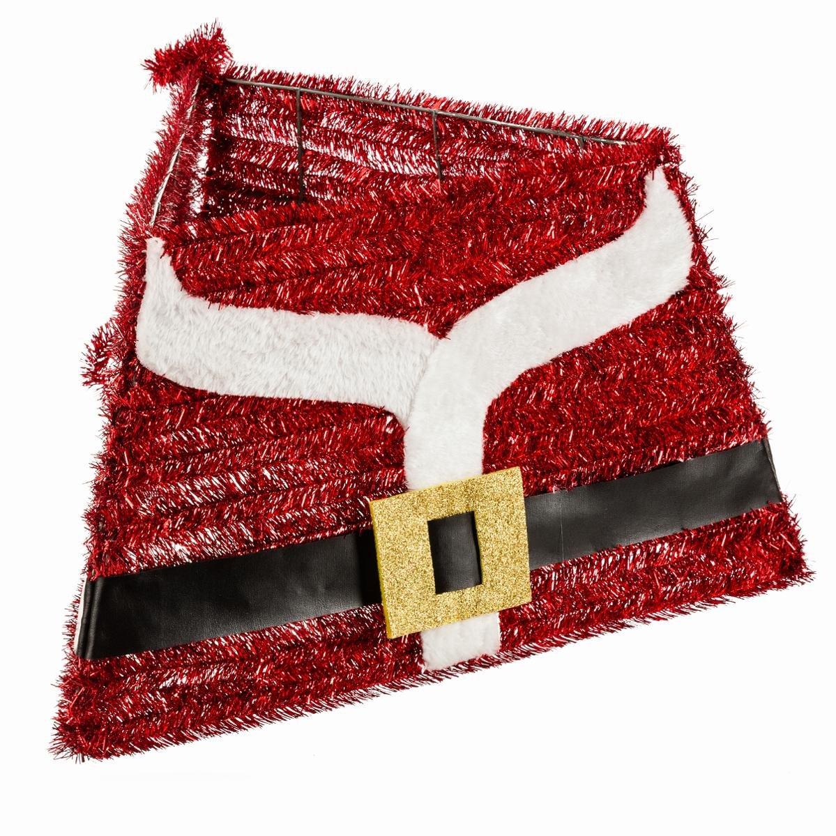 FEERIC LIGHTS & CHRISTMAS Decorazione Natalizia - Copri Base per Albero di Natale 3 Lati - Decorazione Vestito di Babbo Natale