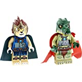 Lego Kid's Amazon Exclusive 9009525 Legends of Chima Laval and Cragger 2-Pack Minifigure Alarm Clocks