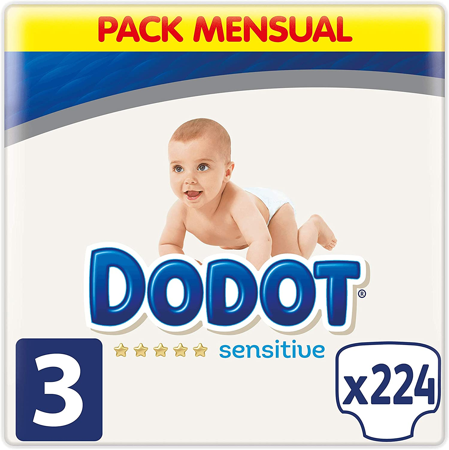 Dodot Sensitive - Pañales, Talla 3 (6-10 kg), 224 Pañales: Amazon ...