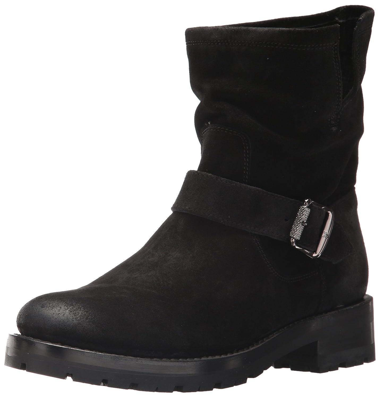 FRYE Women's Natalie Short Lug Engineer Boot B01N5IL6GT 10 B(M) US|Black Soft Oiled Suede