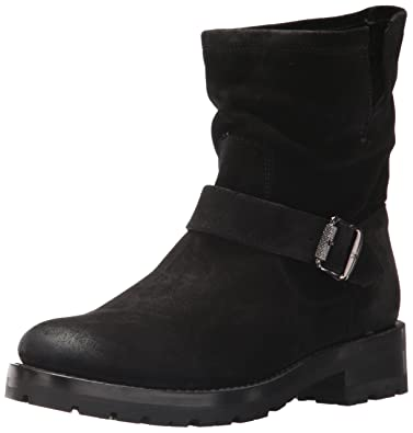 a5c9005f89e7 FRYE Women's Natalie Short Engineer Lug Boot, Black Soft Oiled Suede, ...