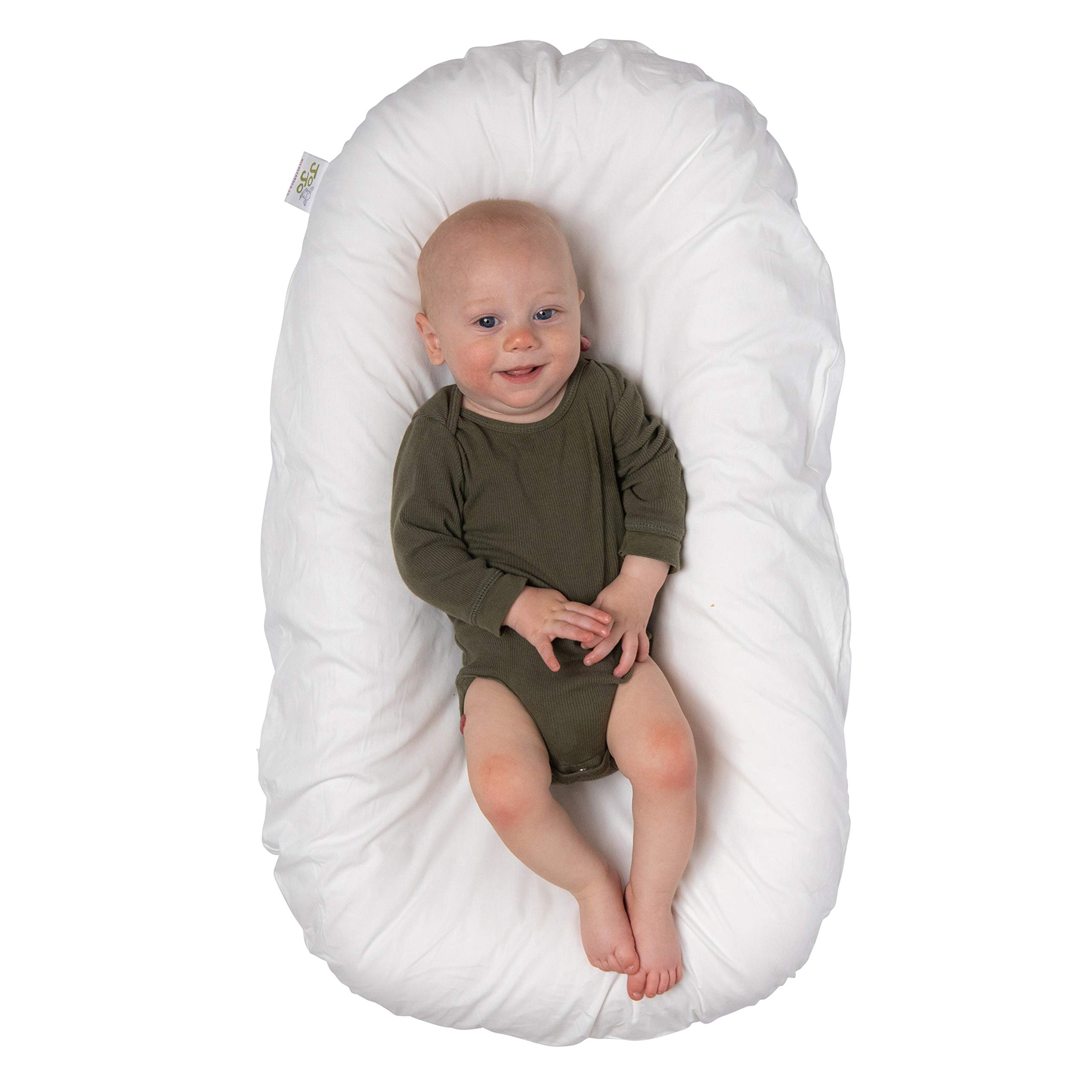 JoJo Infant and Toddler Lounger | cosleeping Baby Bed | Portable Crib and Newborn Sleeper | Suitable for 0-24 Months by The Mompreneur, LLC