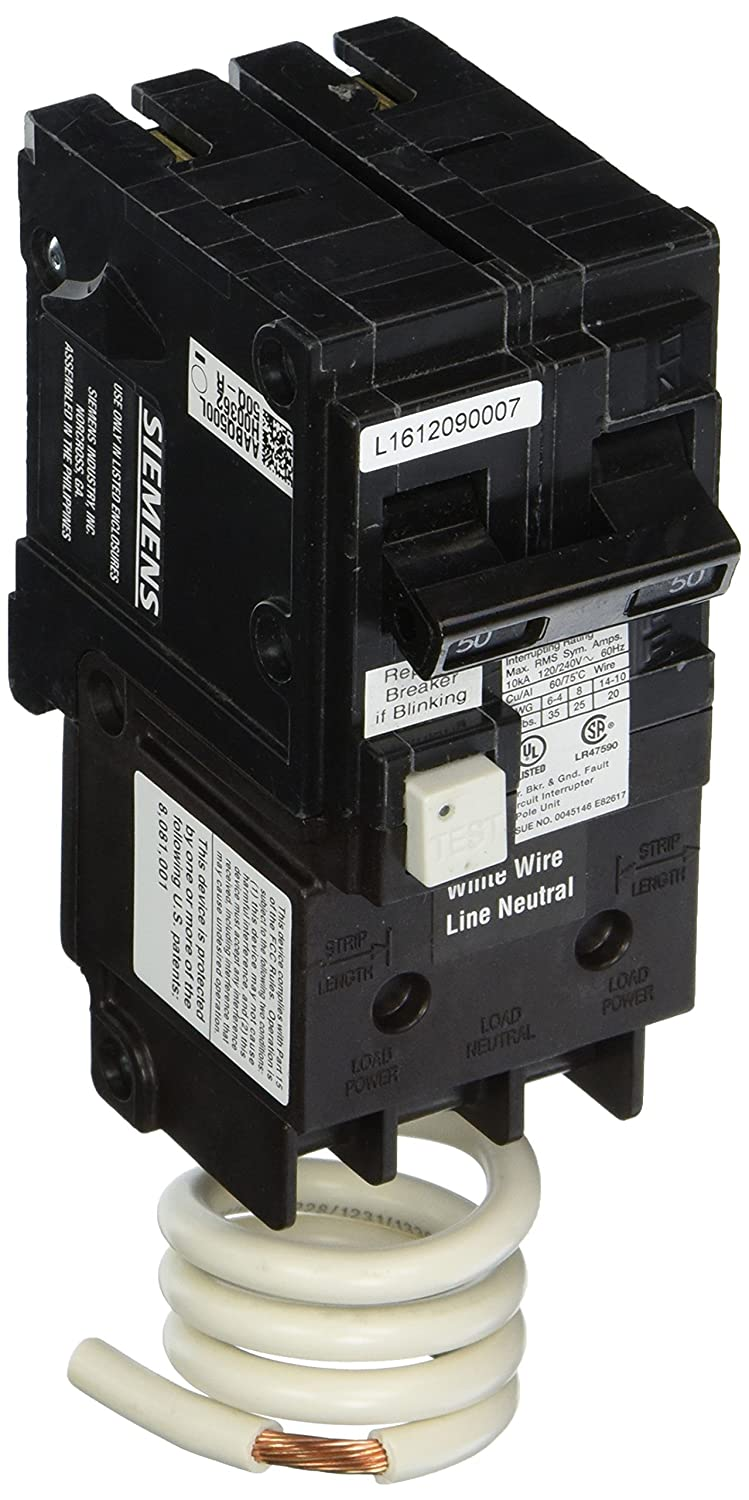 Siemens Qf250a 50 Amp 2 Pole 120v 10 000 Aic Ground Fault Gfci Load Center With Circuit Breaker And Enclosure Interrupter