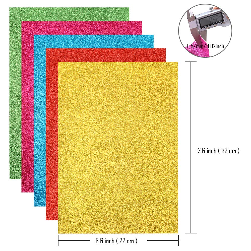 Sntieecr 16 Pieces 16 Shiny Colors Superfine Glitter Sequins Fabric, Faux Leather Fabric Sheets Canvas Back 12.6 x 8.6 Inch (32 x 22 cm) for DIY Craft, Making Hair Clips, Earrings and Sewing Project by Sntieecr (Image #3)