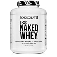 Less Naked Whey Chocolate Protein - All Natural Grass Fed Whey Protein Powder, Organic...