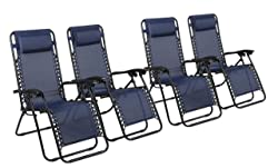 Naomi Home Gravity Chair - Navy - Set Of 4