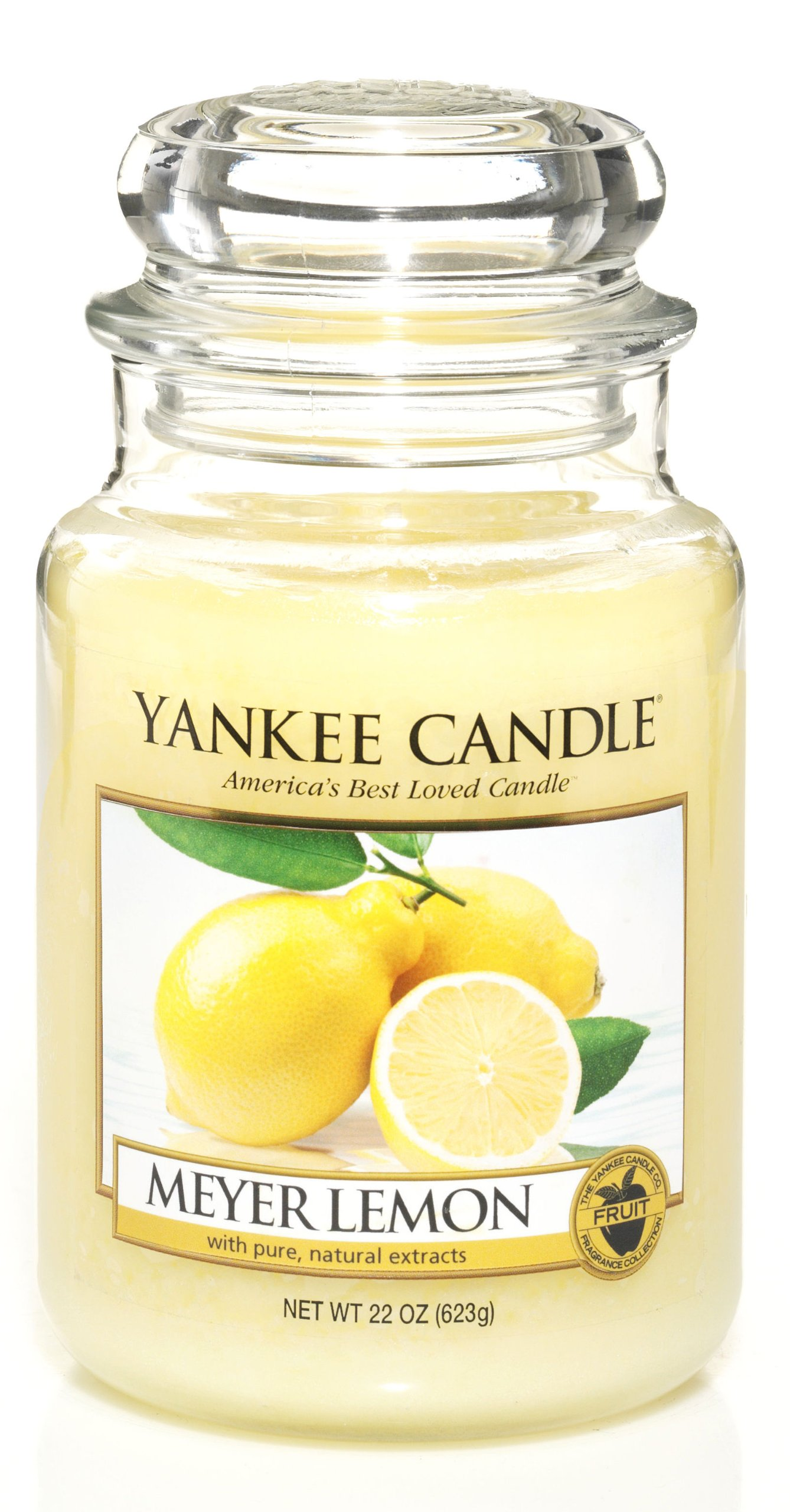 Yankee Candle 22-Ounce Jar Candle, Large, Meyer Lemon